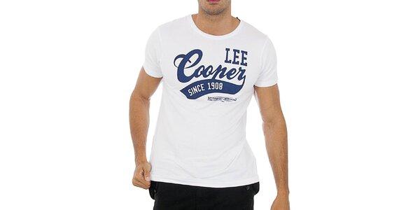 Pánské bílé tričko Lee Cooper