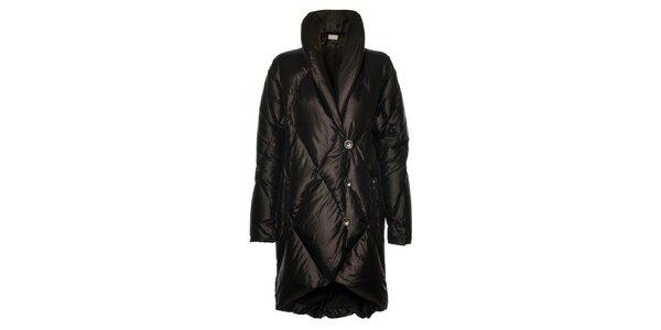 Dámský černý péřový kabát Pietro Filipi