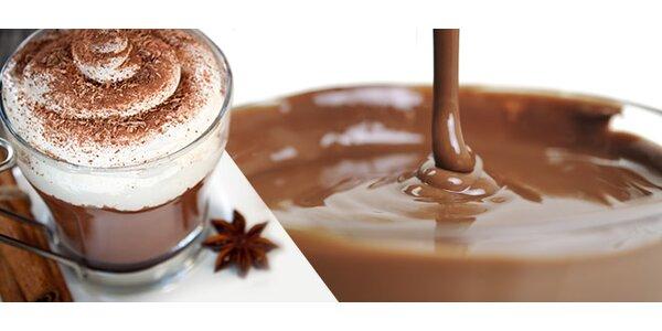 2 pravé belgické horké čokolády s domácí šlehačkou