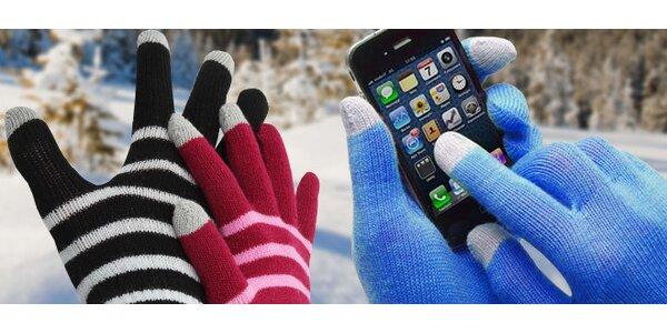 Zimní rukavice pro obsluhu dotykových telefonů