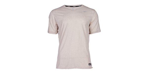 Pánské světle šedé běžecké tričko Nike
