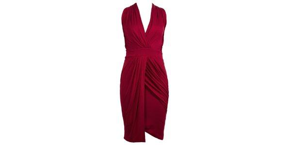 Dámské vínově červené glamorous šaty CeMe London