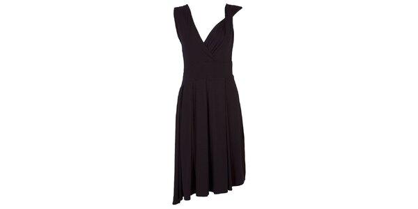 Dámské černé šaty s bohatou splývavou sukní CeMe London
