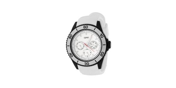 Dámské bílé hodinky se silikonovým řemínkem Esprit