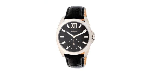 Dámské kulaté analogové hodinky Esprit s černým ciferníkem