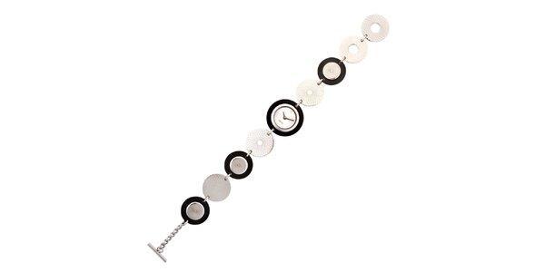 Dámské stříbrno-černé náramkové hodinky Esprit
