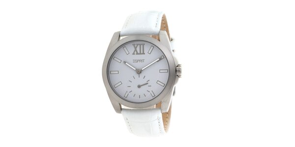 Dámské bílé analogové hodinky Esprit