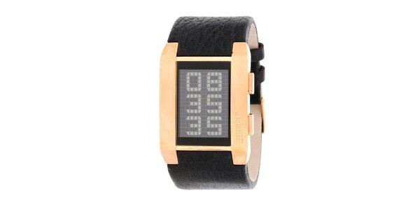 Pánské zlaté digitální hodinky Esprit