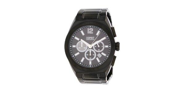 Pánské ocelové černé hodinky Esprit