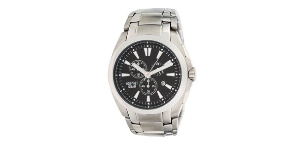 Pánské ocelové analogové hodinky s chronografem Esprit
