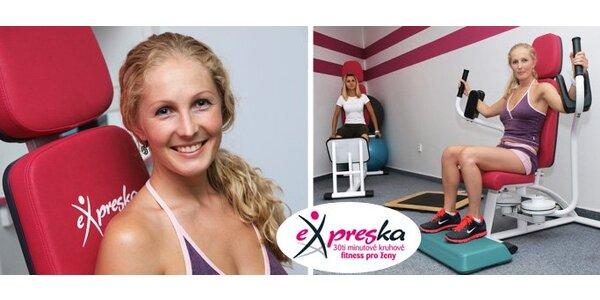 199 Kč za členský poplatek do dámského fitness klubu Expreska.