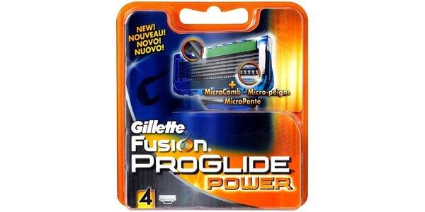 Gillette Fusion Proglide Power náhradní hlavice 4ks
