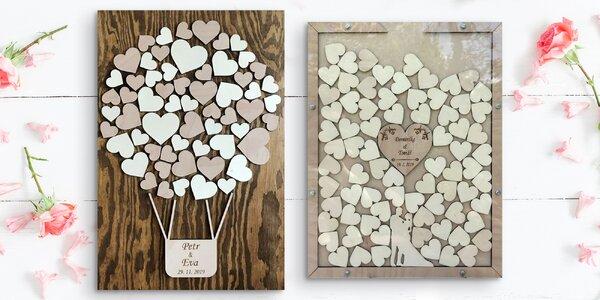 Dřevěná kniha hostů nejen na svatbu