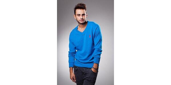 Pánský zářivě modrý svetr Celop