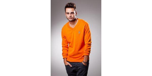 Pánský oranžový svetr Celop