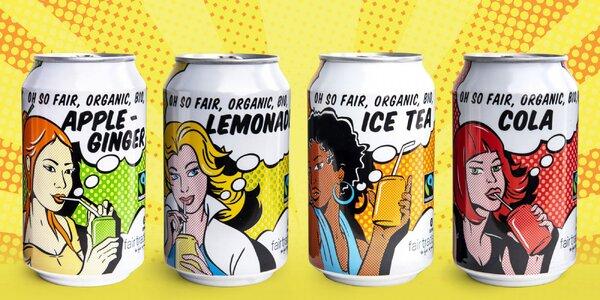Bio fair trade limonády ve 4 osvěžujících příchutích