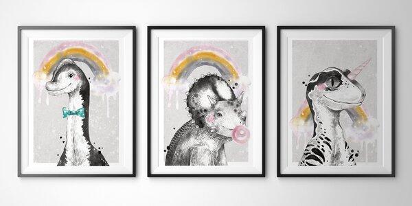 Roztomilé plakáty do dětského pokojíčku, 4 velikosti