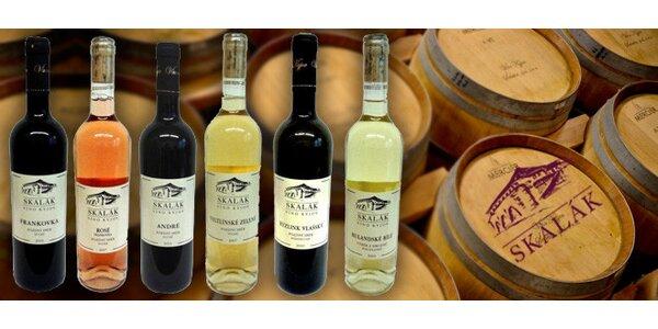 Sada 6 českých přívlastkových vín