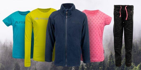 Dětské oblečení Alpine Pro: trika, mikina, tepláky