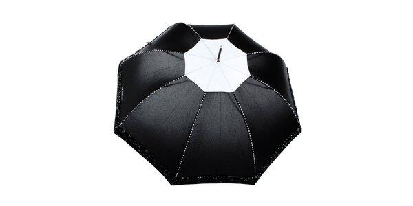 Dámský černý romantický vystřelovací deštník Ferré Milano
