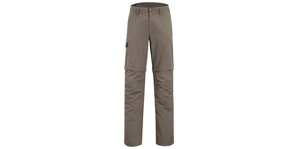 Pánské šedo-hnědé kalhoty Meier s odepínatelnými nohavicemi