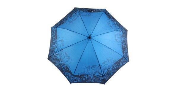 Dámský modro-černý vystřelovací deštník Ferré Milano