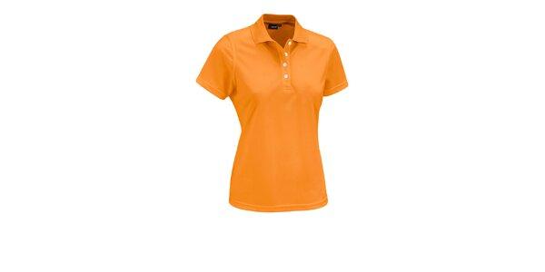 Dámské oranžové polo tričko Maier s bílými knoflíčky