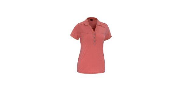 Dámské červené polo tričko Maier s kostkovanými lemy