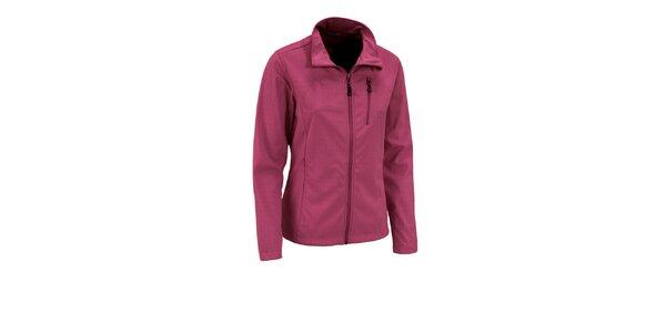 Dámská tmavě růžová třívrstvá softshellová bunda Maier