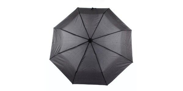 Pánský šedý deštník s proužkem Ferré Milano