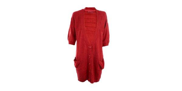 Dámský rudý dlouhý svetr Next