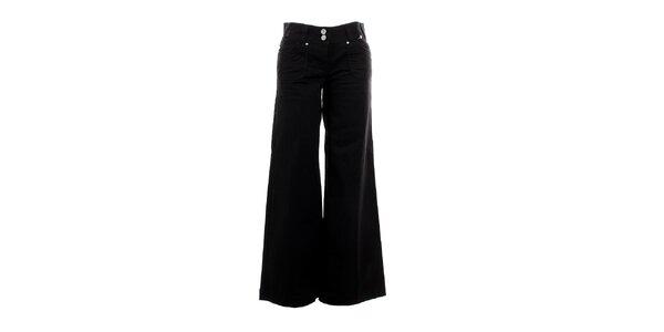Dámské černé zvonové kalhoty Next