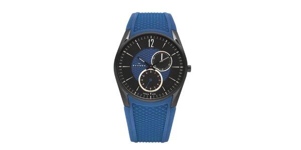 Unisexové modré hodinky Skagen se silikonovým řemínkem