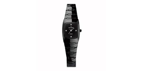 Dámské keramické hodinky Skagen černé