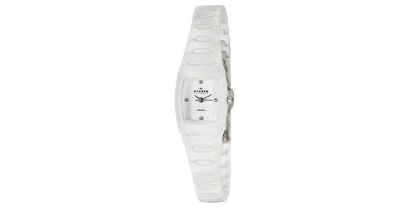 Dámské keramické hodinky Skagen bílé