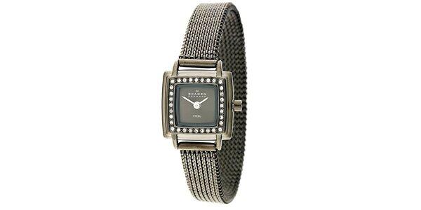 Dámské nerezové hodinky s krystaly Skagen