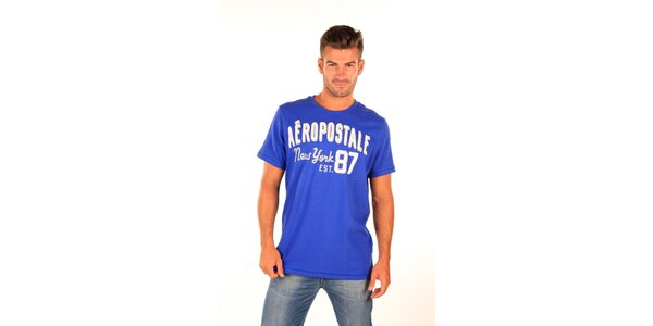 Pánské modré tričko Aéropostale s retro nápisem