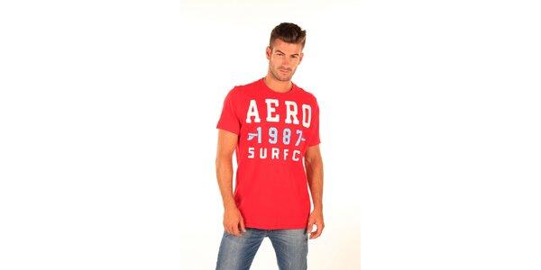 Pánské červené tričko s potiskem Aéropostale