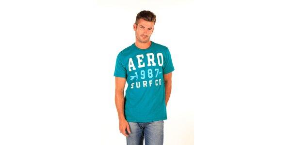 Pánské tyrkysové tričko s nápisem Aéropostale
