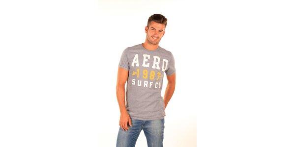 Pánské šedé tričko s potiskem Aéropostale