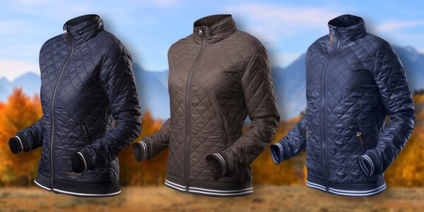 Podzimní prošívaná bunda v mnoha barvách