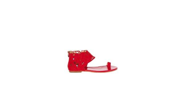 Dámské červené sandály Miss Sixty