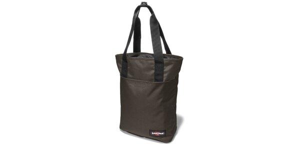 Dámská menší tmavě hnědá taška Eastpak s černými detaily