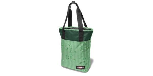Dámská tmavě zelená proužkovaná taška Eastpak