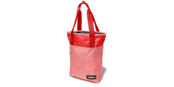 Dámská červená proužkovaná taška Eastpak