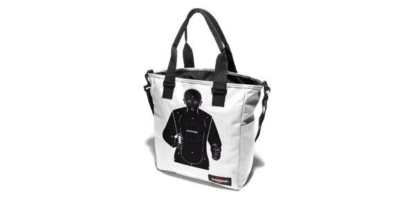 Dámská bílá taška Eastpak se střeleckým potiskem