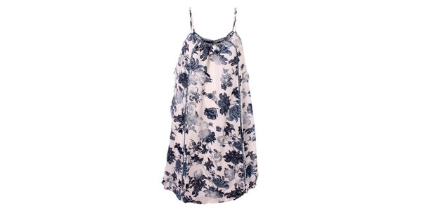 Dámské modro-bílé květinové šaty Bleifrei