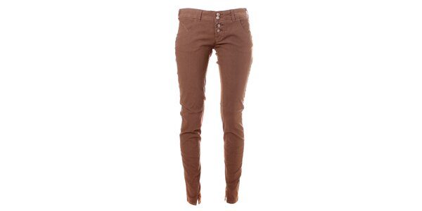 Dámské kávové skinny kalhoty Bleifrei