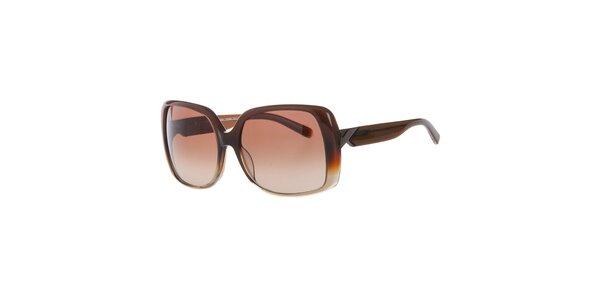 Dámské tmavě hnědé sluneční brýle Calvin Klein