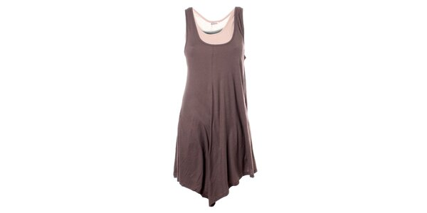 Dámské hnědo-béžové bavlněné šaty Bleifrei